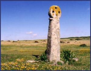 St Piran's Cross at Perranzabuloe, Cornwall
