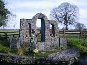 St. Brigid's Well, Kildare, Ireland. In Irish mythology Brigid was the Celtic goddess of fire, poetry, unity, childbirth and healing.