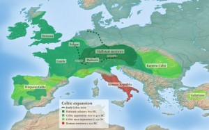 Ancient Celtic lands throughout western Europe